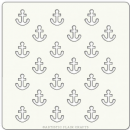 "Artistic Flair, Craft Stencil 101 Range - (4"" x 4"") - Anchors"